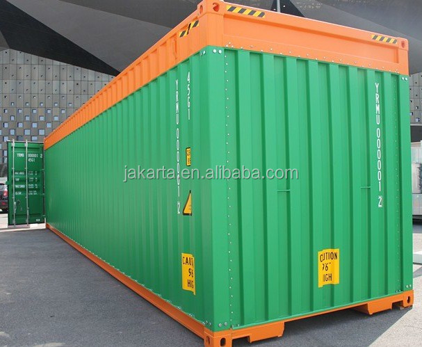 Used in Indonesia CIMT marine 15' half height tank open top container