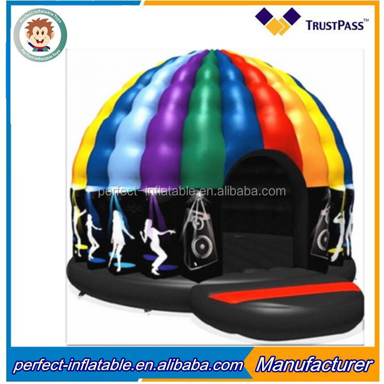 2017 new style small size inflatable disco tent inflatable dome ten