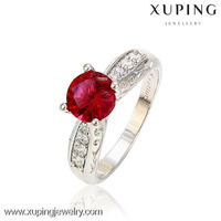 13025-top quality fashion jewelry diamond engagement ruby ring