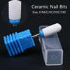 Factory Wholesales Ceramic Nail Drill Bits 3/32'' for Manicure Machine Cutter Nail Accessories