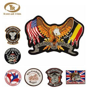 Garment Accessories Custom embroidered patches no minimum