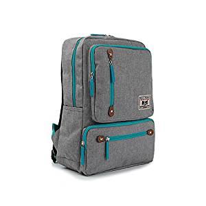 ULEX SPORTS Students School Shoulder Backpacks Canvas Laptop Backpack  Travel Bag Laptop Backpack Multifunctional Unisex Luggage dee2a840ea