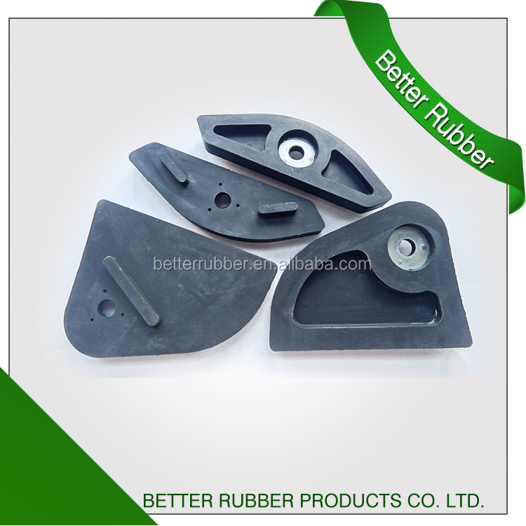 Irregular shape assembling rubber feet/rubber pads