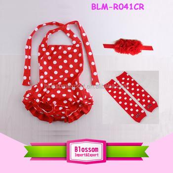 8a45589f008 Trendy Newborn Baby Cotton Clothes Smocked Bubble Romper Red White Dots  Children Sunsuit Bulk Sale Baby