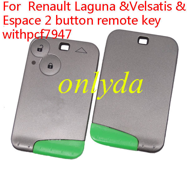For Renault Laguna &Velsatis & Espace 2 button remote key withpcf7947 chip