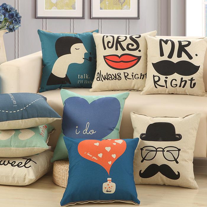 historia de amor de algodn de lino sof cojn x cm x uusweetlove throw pillow hogar y jardn textiles asiento cojn decoracin para el hogar