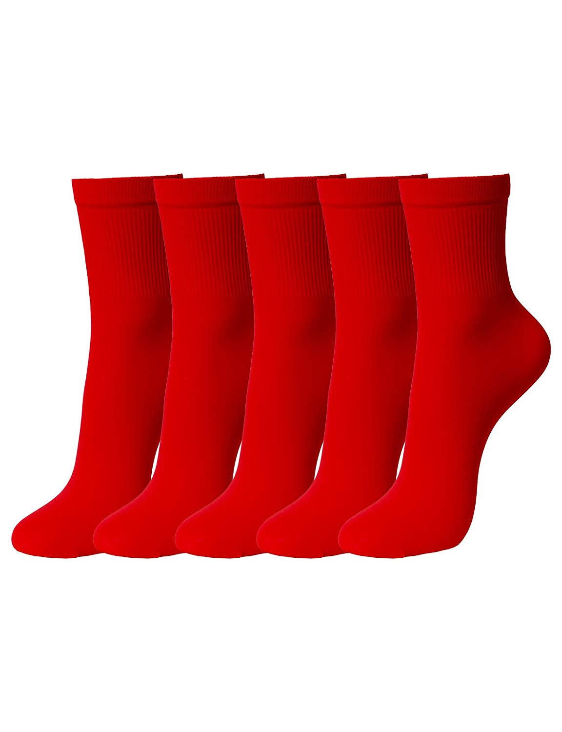 7a3c5d3bf Get Quotations · OSABASA Women 5or 10 Pairs Color Nylon Ankle High Tights  Hosiery Socks