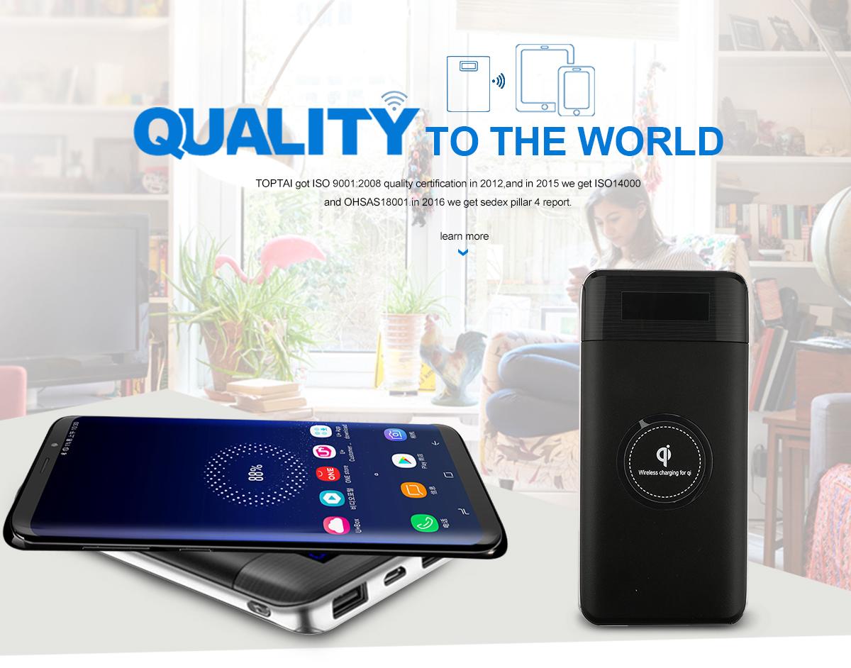Shenzhen Toptai Technology Co., Ltd. - Wireless Charger, Power Bank