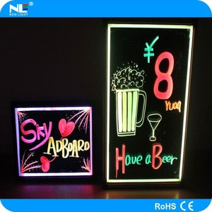Alibaba hot sell hardened back board acrylic RGB waterproof advertising led message board for shops/restaurants/cafes
