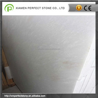 Pure white chinese snow marble flooring slabs for hot sales