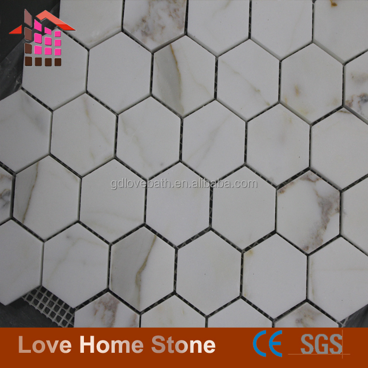 Modern design small calcutta natural marble stone floor wall tile