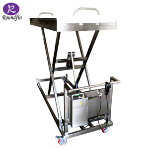 Mortuary equipment lift 304 stainless steel mortuary corpses trolley with  Electrical control system