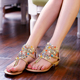 Wholesale Fashion New Design Summer Stylish Fancy Flat Sandals Women Daily Work Casual Shoes