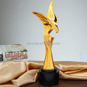 Wholesale gold plating oscar trophy/metal trophy customized Oscar awards trophies
