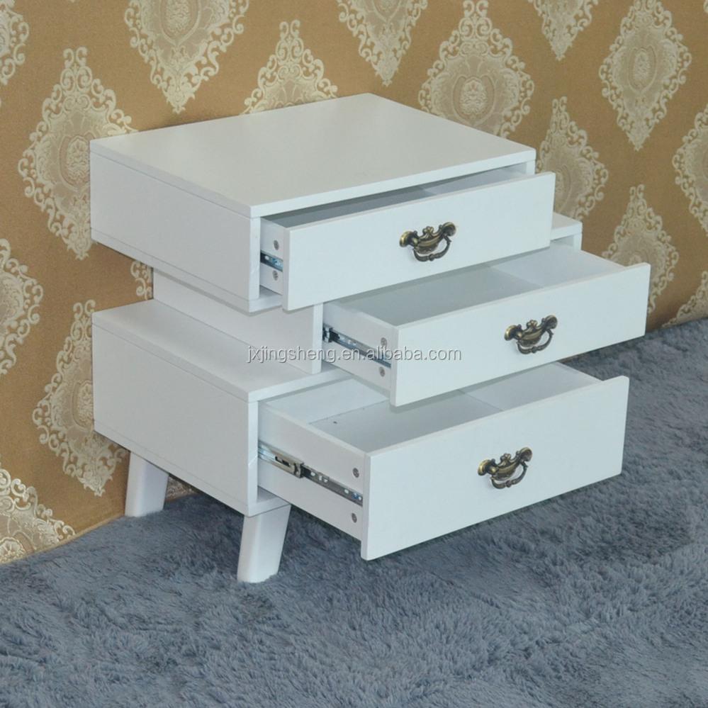 houten meubilair shabby chic witte lade nachtkastje kast in de ...