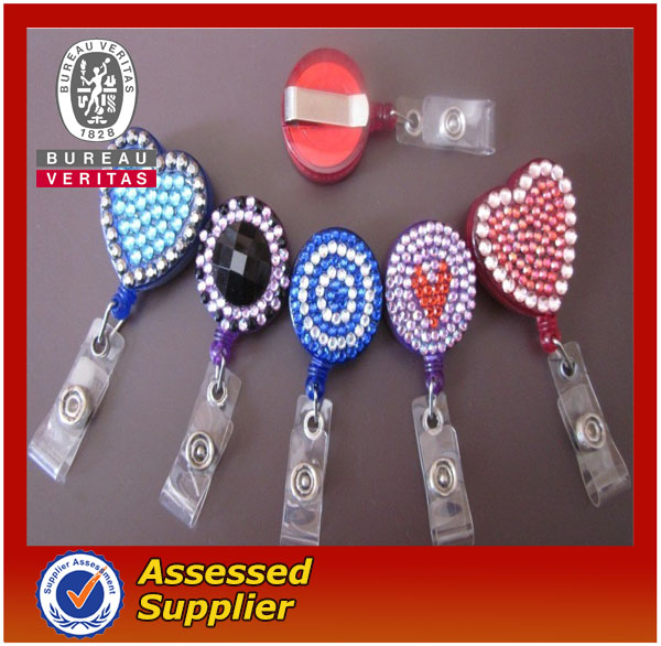 Fashion Bling Rhinestone Badge Reels