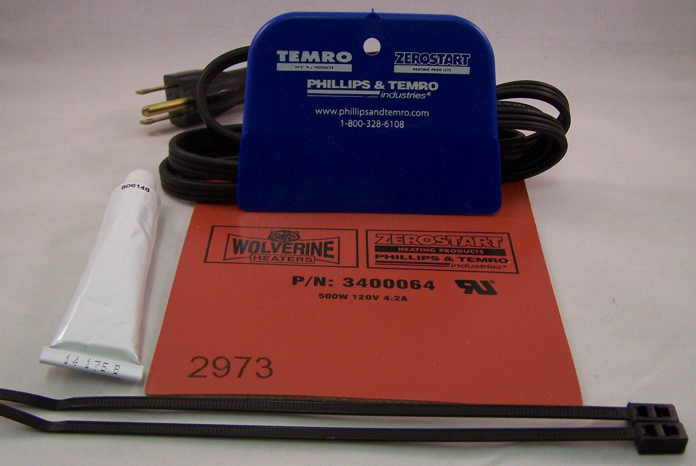 Hydraulic system heater// tank heater 120v 500 watt