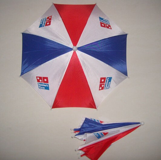 2016 Colorful OEM promotional flag print logo Hats mini Head umbrella hat for adult