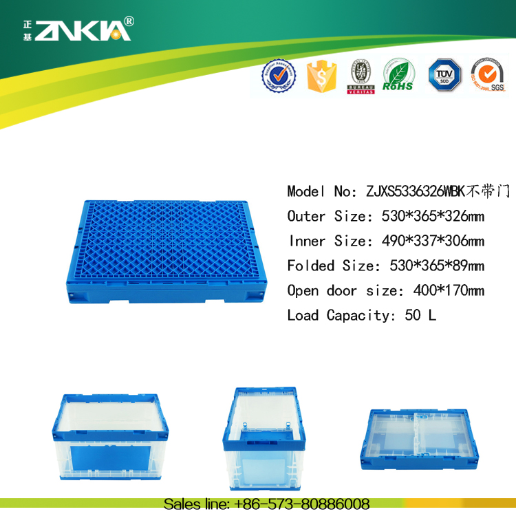 Bio degradable Clear PP Foldable Plastic Box