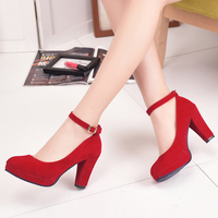 2018 New 9cm suede shoes dress women lady heel shoes for women