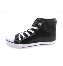 Kid black high-cut casual shoes with competitive price in Stock