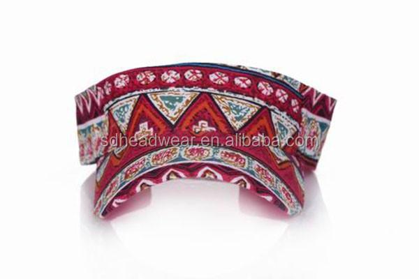 452105af792 Red Pattern Cheap Funny Sun Visor Hat - Buy Sun Visor Hat