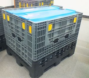 Virgin HDPE Large bulk container euro box plastic folding solid boxes