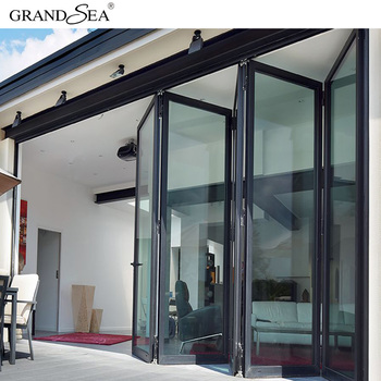 Best Supplier Large Conner Sliding Aluminum Folding Doors Price