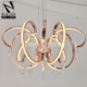 China neke gold led crystal ball chandelier light for hotel