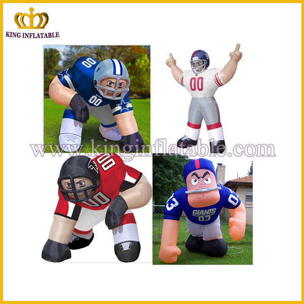 cheap nfl inflatable player lawn figure,bubba player,football player