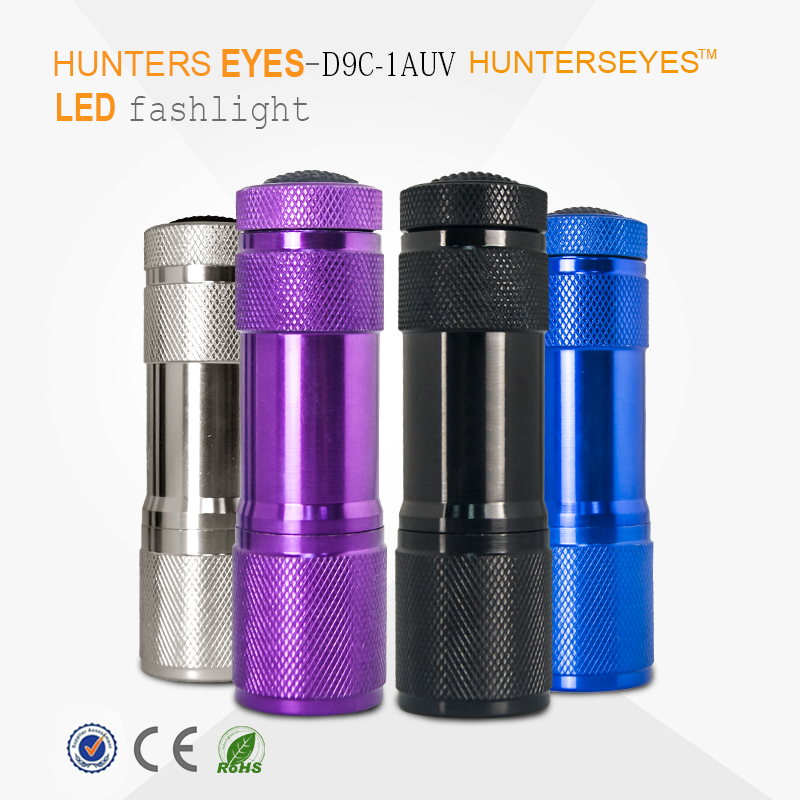 9 LED uv flashlight pet urine detector nail gel uv torch, UV LED Light UV Lamp, ultraviolet torch light