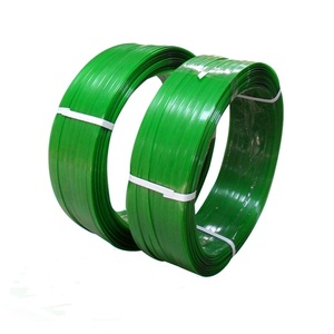 Green PET cotton soft flexibility bale plastic straps for packaging