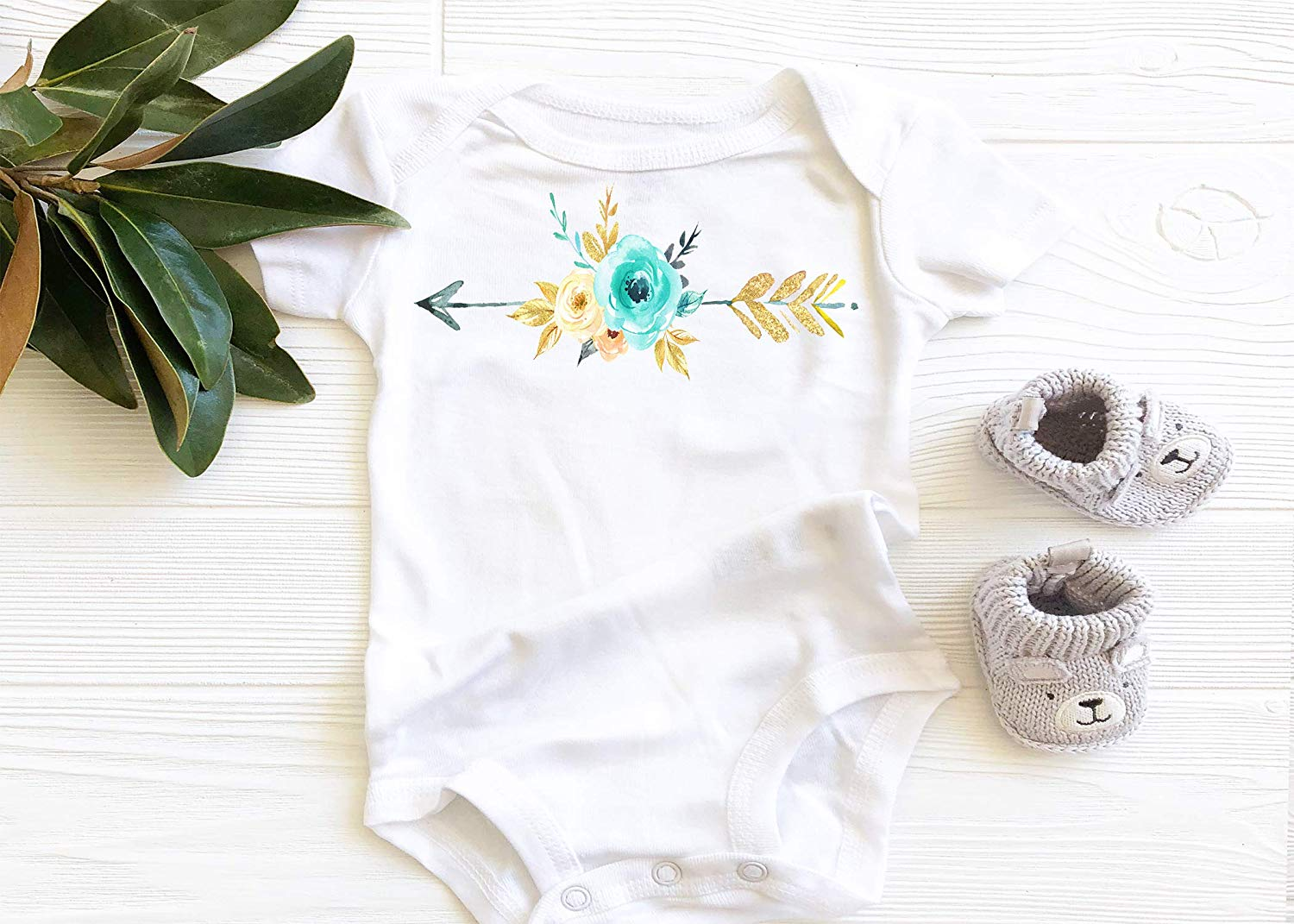 0d7a17095 Get Quotations · Blooming Arrow Onesie, Baby Girl Onesie, Baby Bodysuit,  Onesie, Baby Apparel,