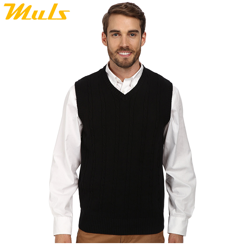 62a977eff Get Quotations · Plus size polo mens v neck black sweater vest ralph  fashion england style vestido plain solid