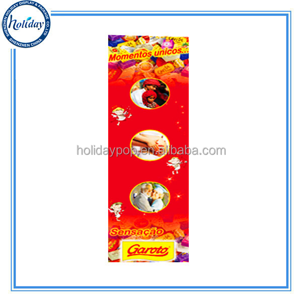 High Quality Paper Display Advertising Standee For Garoto Chocolate Promotion,Cardboard Roll Up Standee