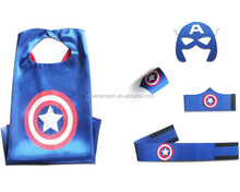 Superhero Cape and Mask Costumes for Kids Set-Capes, Masks Stickers and Tattoos