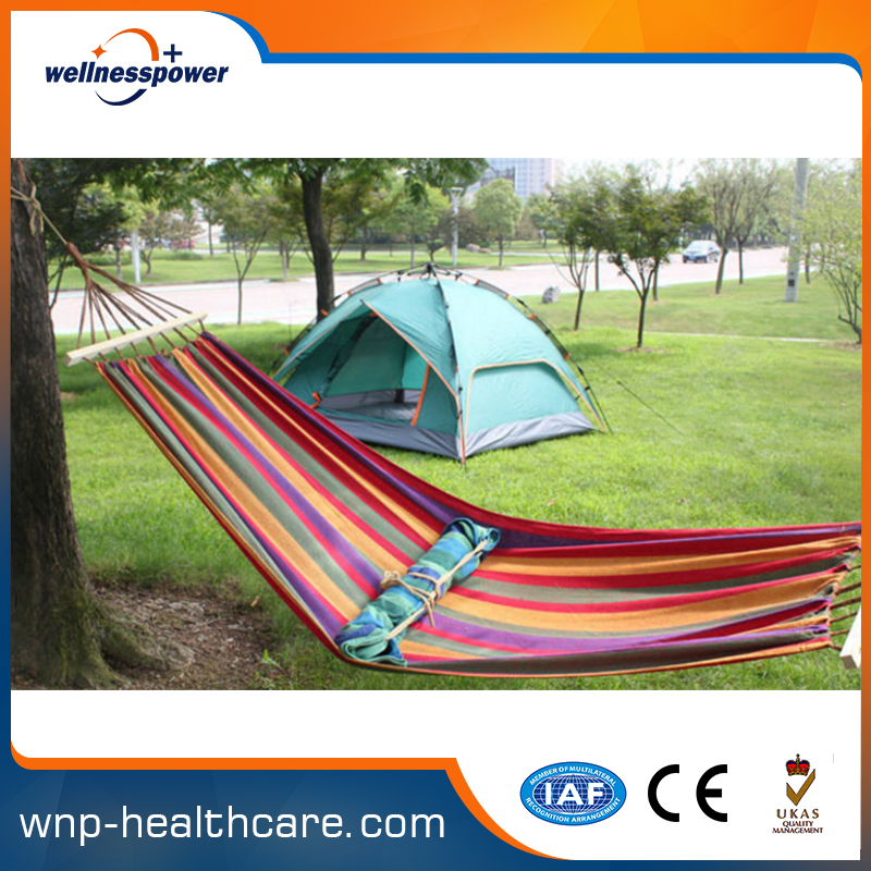 Hot selling sigle person colored hanging swinging hammock