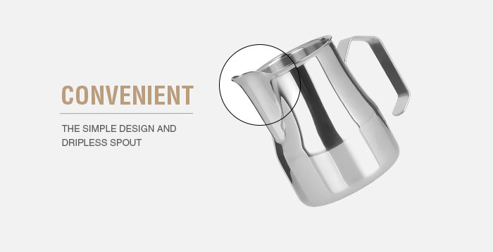 New production 700ml milk frothing pitcher coffee jug stainless steel milk pitcher
