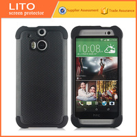 Anti shock 2 in 1 tpu pc case cell phone back cover case for htc one m8