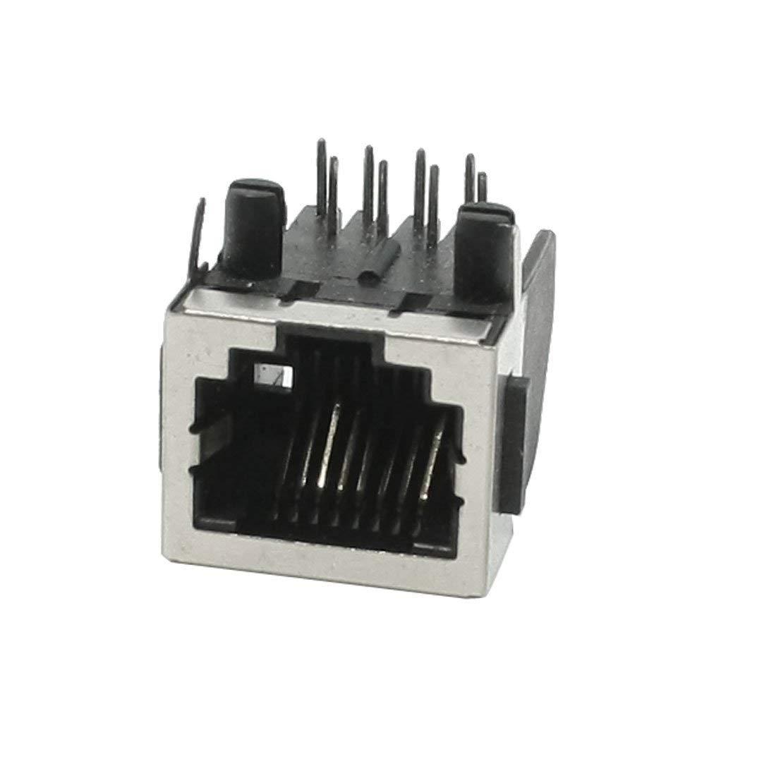 uxcell RJ45 8P8C 8 Position Modular Network PCB Jack Socket Port 18mm Length