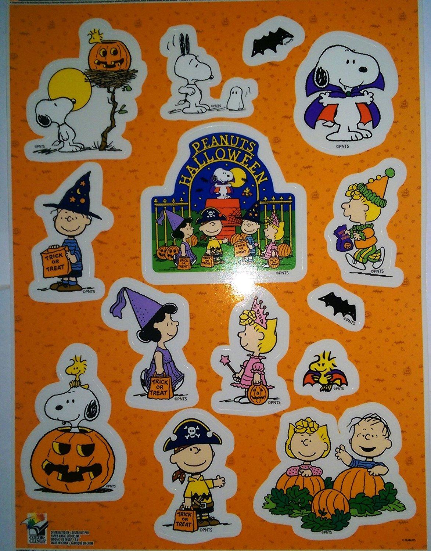 buy peanuts charlie brown and snoopy halloween window clings in