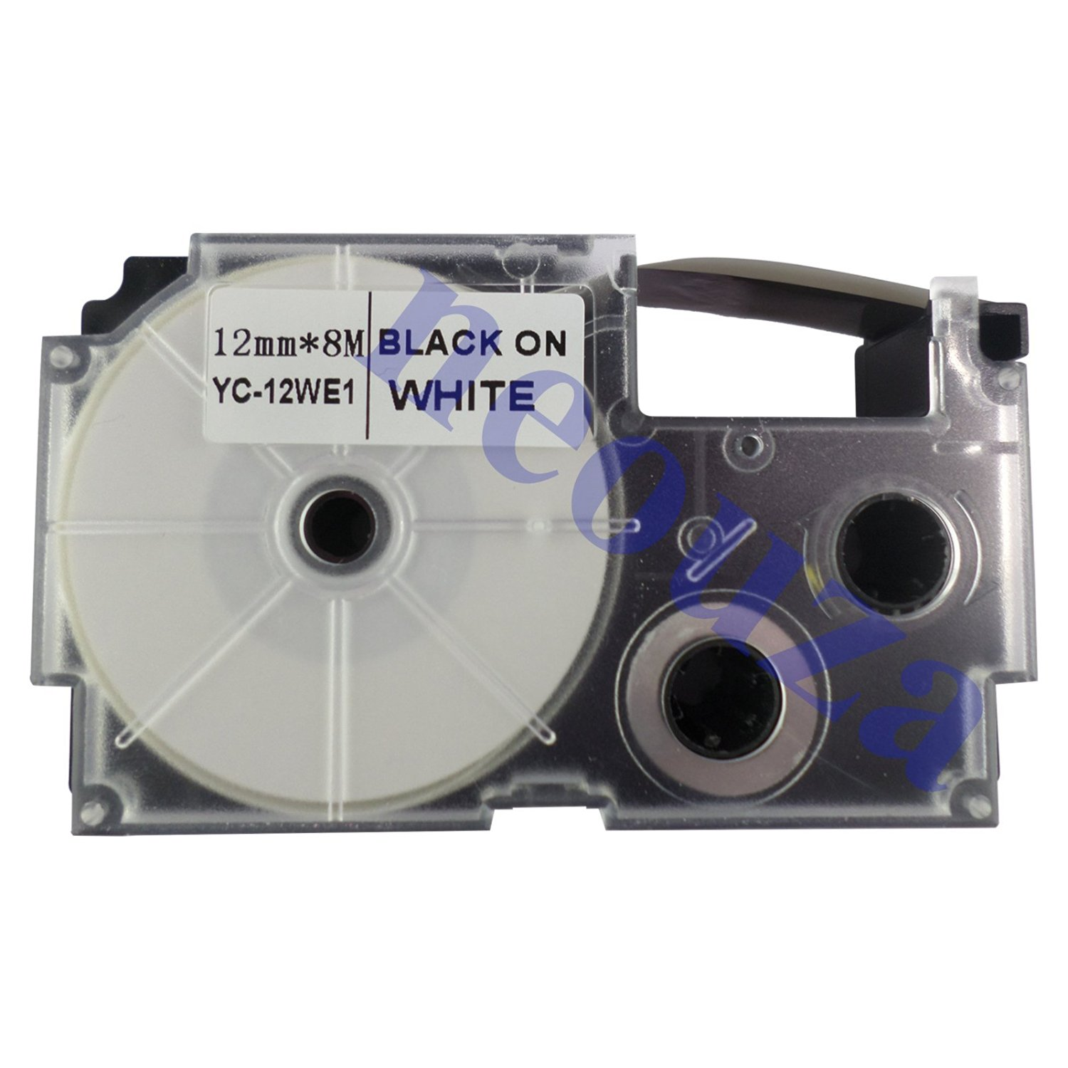 Compatible for Casio EZ-Label Printer Tape 12mm Black on White XR-12WES LABEL IT!