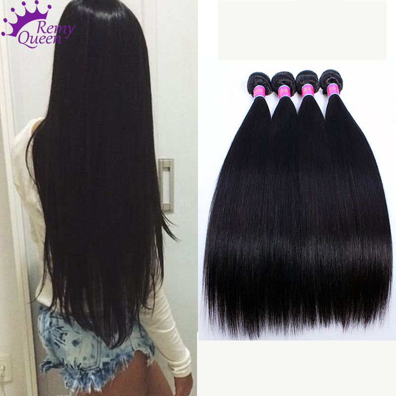 7A Brazilian Virgin Hair Straight 4 Bundles 100 Virgin Human Hair Weave Extensions Brazillian Straight Hair