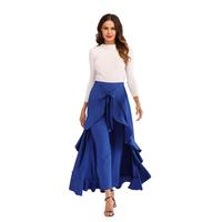 Hot sale High waist long culottes Lotus leaf skirt stylish skirt for women