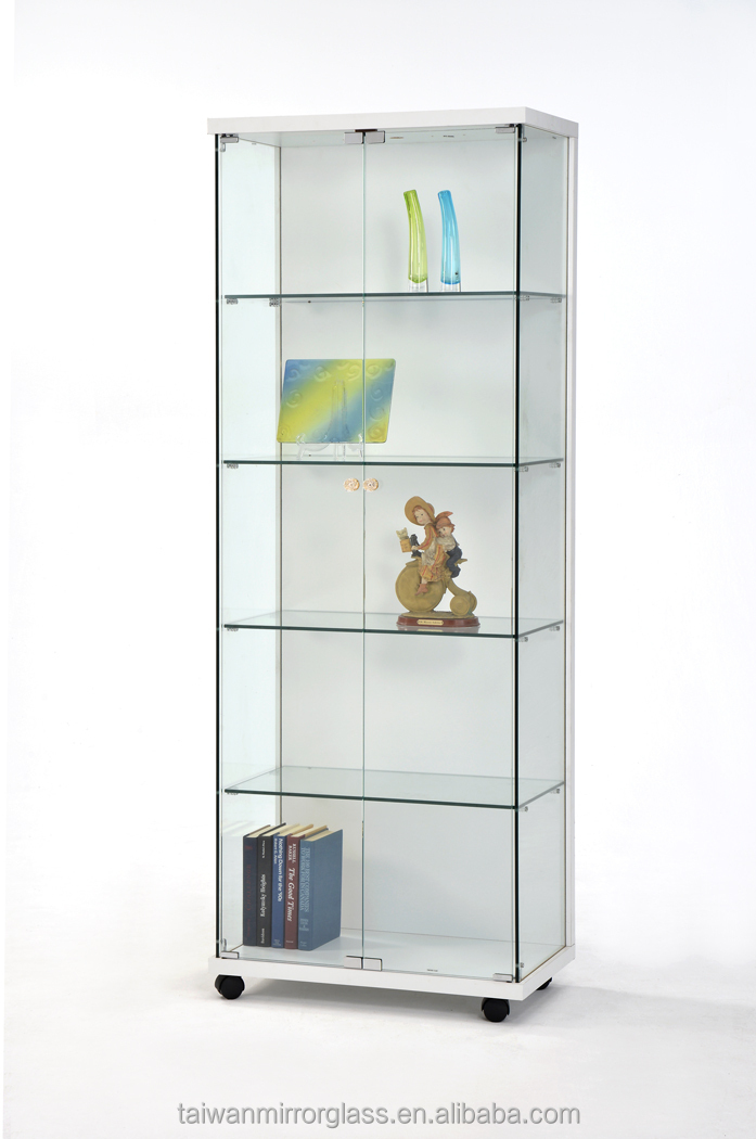 Useful wooden and glass display show cases
