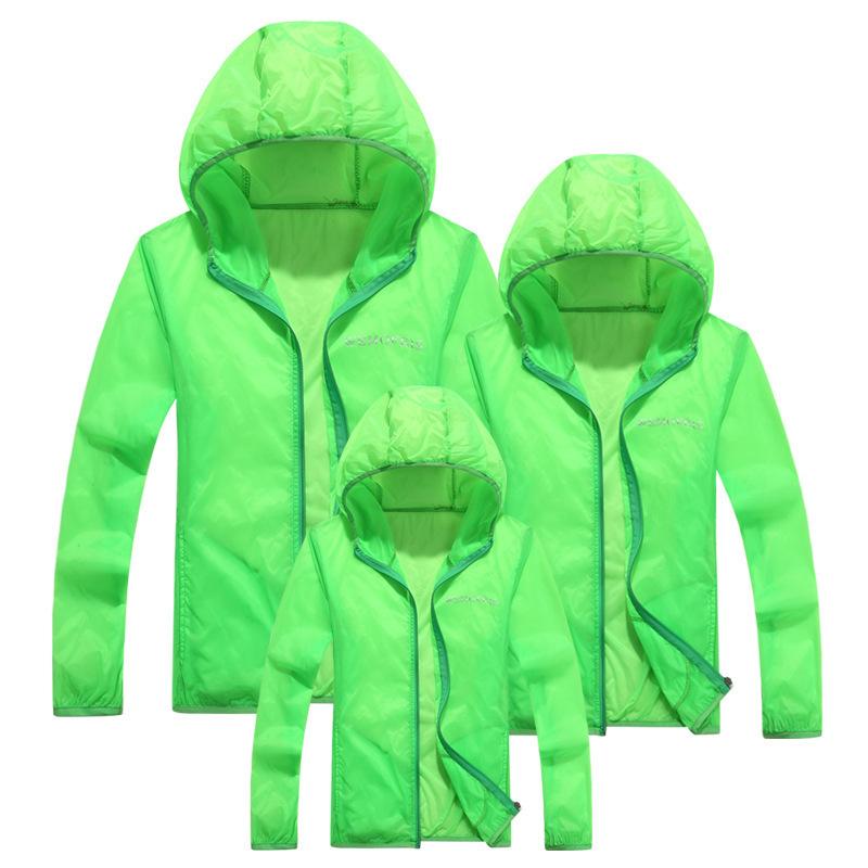 Дети в защита от солнца одежда ультрафиолетовый младенцы семья соответствующий наряд пальто женское модели диких защита от солнца одежда
