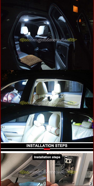 nieuwe ontwerp super witte auto verlichting interieur cob high power led kaart lamp geleid ondergang licht