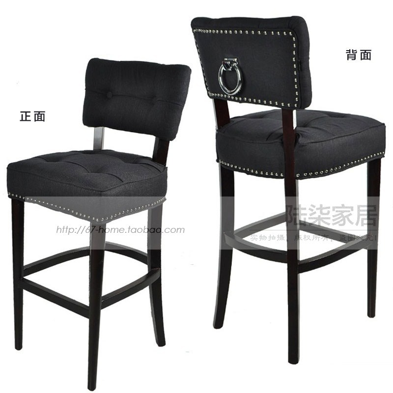 67home export American furniture wood bar stool soft cloth bag Markor family tradition designer bar stools