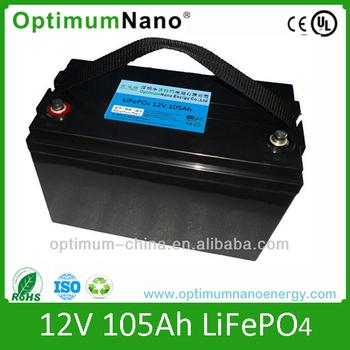 Lithium ion battery 12v 105ah for trolling motor electric for Electric trolling motor battery size