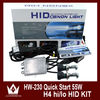Top selling auto lamp h4 12v 60/55w super white headlight 12 months warranty